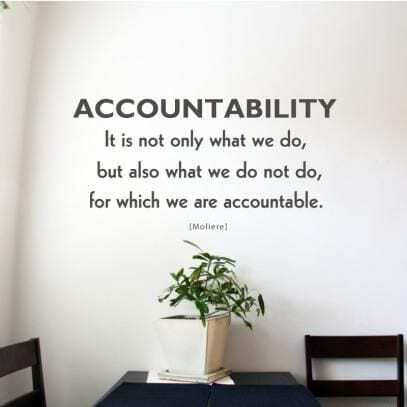accountability for more confidence