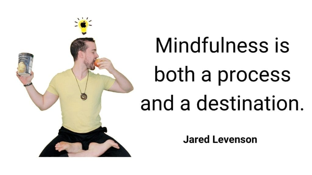 Mindfulness is both a process and destination quote jared levenson