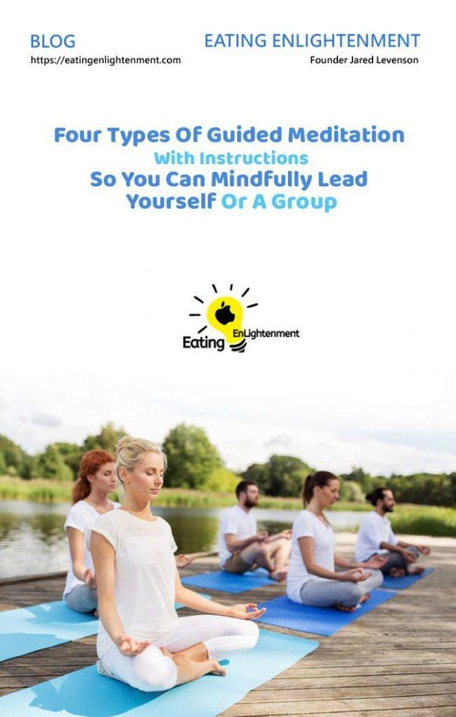 pinterest image with blog title four types of meditation