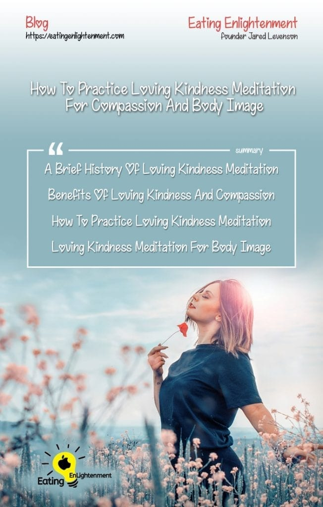 pinterest image showing the topics of the blog article about loving kindness meditation