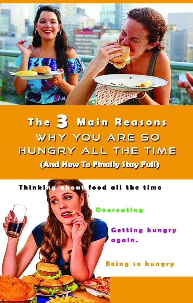 pinterest image about being hungry all the time